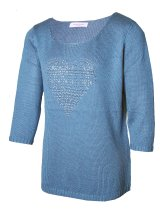 CHRISTA PROBST 74128/0 Ladies Pullover silver blue