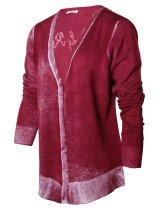 CHRISTA PROBST 74206/1 Ladies Cardigan bordeaux